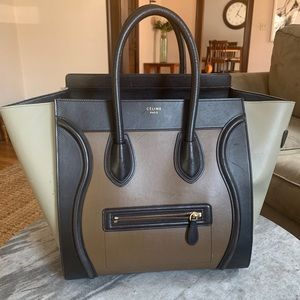 Celine Luggage Nano Tricolor